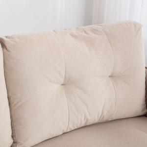 Velvet Sofa , Accent sofa .loveseat sofa with Stainless feet detail