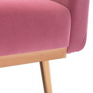 Velvet Sofa , Accent sofa .loveseat sofa with metal feet detail