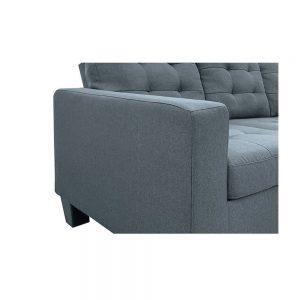 ACME Earsom Sectional Sofa in Gray Linen detail1