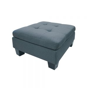 ACME Earsom Sectional Sofa in Gray Linen ottoman1