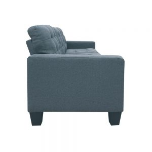 ACME Earsom Sectional Sofa in Gray Linen side 1
