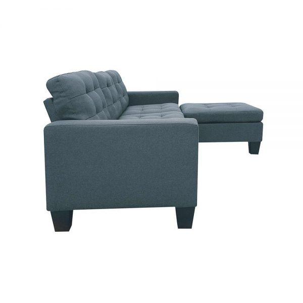 ACME Earsom Sectional Sofa in Gray Linen side