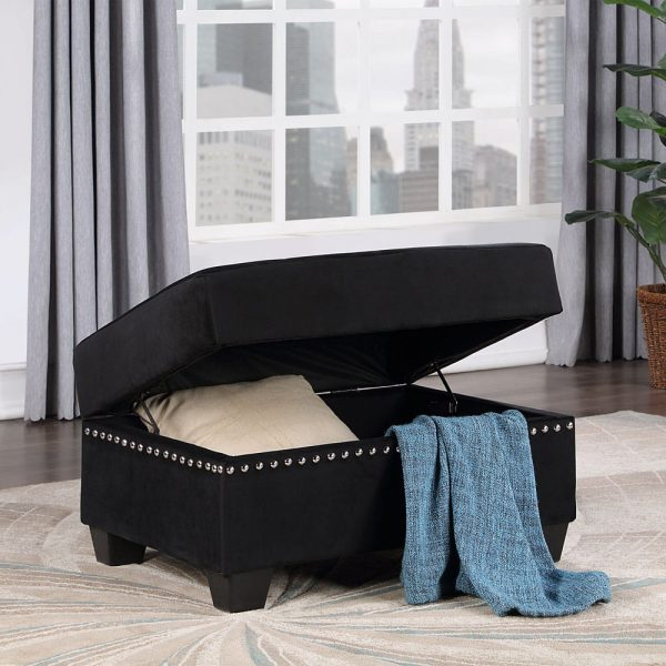 Reversible Sectional Sofa Space Saving with Storage Ottoman Rivet Ornament L-shape Couch for Small or Large Space Dorm Apartment ottoman